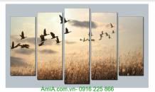 Tranh phong cảnh thiên nhiên: Đàn chim trở về AmiA 1346