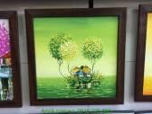 Tranh vẽ phong cảnh đẹp khổ nhỏ bằng sơn dầu Xuân xanh TSD 317