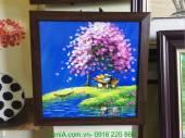Tranh vẽ sơn dầu phong cảnh đẹp khổ nhỏ treo tường TSD 319