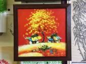 Tranh vẽ sơn dầu phong cảnh khổ nhỏ hai ngôi nhà TSD 320