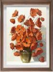 Tranh treo tường cổ điển bình hoa đẹp AmiA 1364