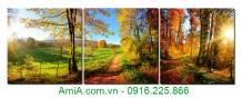 Tranh phong cảnh ánh nắng mùa Thu AmiA 1371