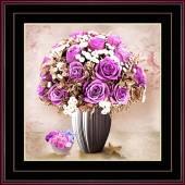 Tranh bình hoa hồng tình yêu treo tường lãng mạn AmiA 1397