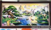 Tranh sơn dầu vẽ phong cảnh sông núi thiên nhiên TSD 386