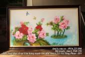 Tranh sơn dầu hoa mẫu đơn AmiA 194