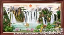 Tranh treo tường sơn thủy Trung Quốc khổ lớn AmiA 1443