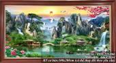 Tranh phong cảnh Trung Quốc sơn thủy hữu tình AmiA 1444