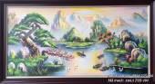 Tranh phong cảnh sơn thủy hữu tình vẽ sơn dầu khổ lớn TSD 404