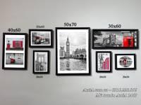 Bộ tranh khung treo tường phong cảnh đẹp nước ngoài AmiA 1460