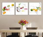 Tranh vũ điệu trái cây tươi mát trang trí phòng ăn AmiA 1474