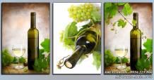 Tranh ly rượu vang nho treo tường AmiA 1475