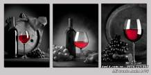 Bộ tranh đen trắng rượu vang đỏ AmiA 1476