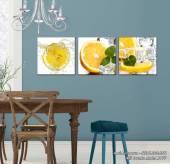 Tranh treo tường phòng ăn cam vắt tươi mát AmiA 1477