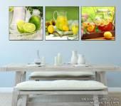 Tranh bình nước chanh treo tường phòng ăn hiện đại AmiA 1478