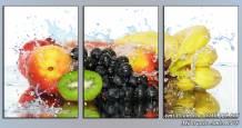 Tranh ghép bộ hoa quả trái cây tươi mát treo phòng ăn AmiA 1479