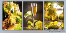 Tranh ly rượu vang nho sang trọng AmiA 1482