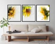 Tranh hoa hướng dương nghệ thuật treo tường AmiA 1486
