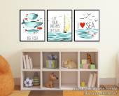 Tranh đại dương xanh treo tường phòng trẻ em AmiA 1487