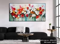 Bức tranh hoa bốn mùa nghệ thuật AmiA 1505