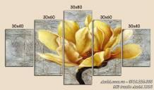 Tranh bông hoa mộc lan vàng nghệ thuật AmiA 1516