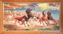 Tranh sơn dầu mã đáo thành công - Ngựa phi nước đại TSD 425