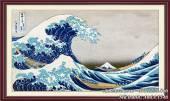 Tranh cổ Nhật Bản Núi Phú Sỹ và con sóng AmiA 1546