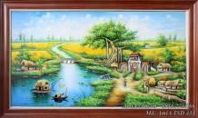 Tranh sơn dầu đồng quê làng quê Việt Nam TSD 433