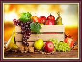 Tranh một tấm khổ nhỏ: Hoa quả trái cây treo phòng ăn AmiA 2046
