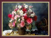 Tranh bình hoa bốn mùa treo tường khổ nhỏ AmiA 2052