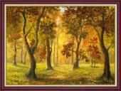 Tranh rừng cây mùa Thu treo tường khổ nhỏ AmiA 2068
