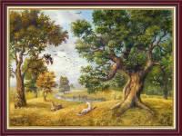 Tranh phong cảnh rừng cây treo tường khổ nhỏ AmiA 2070
