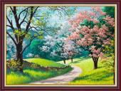 Tranh rừng cây mùa Xuân treo tường khổ nhỏ AmiA 2078