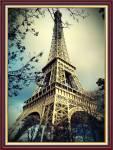 Tranh tháp Paris Eiffel treo tường khổ nhỏ AmiA 2082