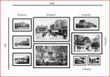 Bộ khung tranh treo tường Hà Nội đen trắng AmiA 1559