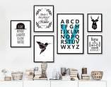 Bộ khung tranh canvas Bắc Âu ABC AmiA 1435