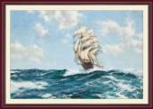 Tranh thuận buồm xuôi gió trên biển một tấm AmiA 1569