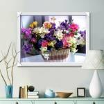Tranh giỏ hoa 4 mùa treo tường nhà đẹp AmiA 1573