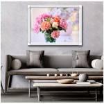 Tranh bình hoa trà đủ màu sắc trang trí nhà xinh Amia 1575