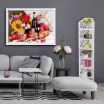 Tranh bình hoa quả rượu vang treo tường một tấm AmiA 1577