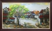 Tranh vẽ phong cảnh phố cổ Hà Nội khổ lớn TSD 354