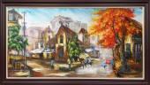 Tranh sơn dầu phố cổ: Ngã tư đường AmiA TSD 398