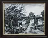 Tranh sơn dầu phố cổ Hà Nội: Ô quan chưởng TSD 328