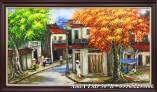 Tranh sơn dầu khổ lớn vẽ phố cổ Amia 307B