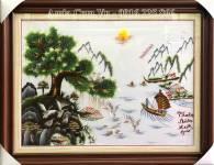 Tranh thuận buồm xuôi gió thêu tay cao cấp TTH 199