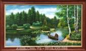 Tranh rừng cây vẽ sơn dầu khổ lớn AmiA TSD 438