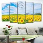 Tranh phong cảnh đẹp đồng hoa hướng dương AmiA 1533