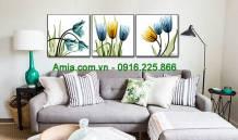 Tranh in canvas hoa nghệ thuật AmiA 1617