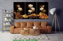 Tranh hoa sen nghệ thuật ghép bộ AmiA 1622