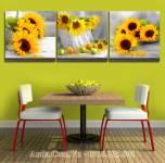Tranh hoa hướng dương treo phòng khách phòng ăn đẹp AmiA 1621