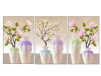 Tranh bình hoa giả 3D Amia 919076